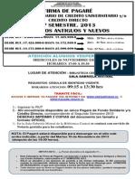 Proceso Firma Pagarés  F. Solidario Créd. Dir. 2do Sem. 2013