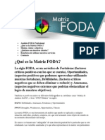 Análisis FODA Profesional