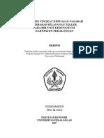 Analisis Tingkat Kepuasan Nasabah Terhadap Pelayanan Teller Pada BRI Unit Kedungwuni Kabupaten Pekalongan