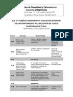 PO y ES. Eje 17. Cronograma de presentación de ponencias