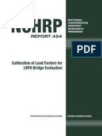 Calibration of Load Factor for LRFR Load Evaluation