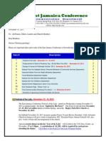 Communication Advisory for November 16- 2013
