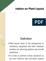 Presentation on Plant Layout