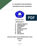 Kelompok 1 - Fungsi Komunikasi Organisasi