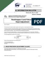 Head Adjustment Procedure Mutoh Falcon II