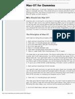 Max-OT for Dummies - Bodybuilding.com Forums