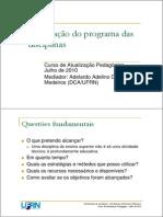 Program a Disciplina