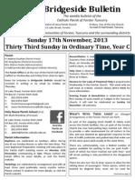 2013-11-17 33rd Ordinary Year C