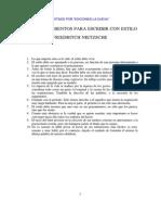 Nietzsche Friedritch - Diez mandamientos para escribir con .pdf