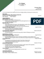 kolpon ivy - resume fall 2013