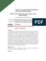 Control Inalámbrico de concentración de Monóxido de Carbono por medio de ZigBee
