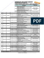 Datesheet of the Annual Examinations 2013