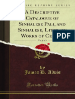A Descriptive Catalogue of Sinhalese Pali and Sinhalese Literary v1 1000691126
