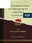 An Introduction to Grammar of the Pali Language 1000101458