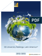 QS World University Rankings Latin America