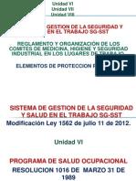 Programa de Salud Ocupacional y Elementos de Proteccion