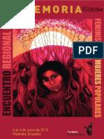Encuentro Regional de Mujeres Memoria Final