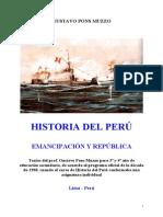 1980 - Gustavo Pons Muzzo - Historia Del Peru Emancipacion y Republica