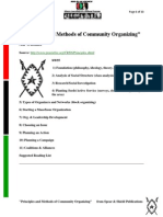 Principles and method of community organising