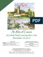 St. Rita Parish Bulletin 11/10/2013