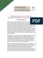 CEBRIAN HERREROS, Mariano - Globalidad Comunicativa de La Solidaridad