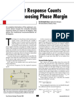 Transient Response Counts When Choosing Phase Margin