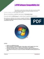 Windows Vista RTM Software Compatibility List