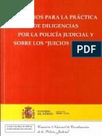 CRITERIOS PARA LA PRACTICA DE DILIGENCIAS POR LA POLICIA JUDICIAL Y SOBRE LOS JUICIOS RÁPIDOS