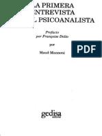 Mannoni, La primera entrevista con el psicoanalista.pdf