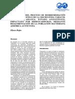 EVALUACIÓN DEL PROCESO DE BIORREMEDIACIÓN IN SITU EN EL SUELO DE LA MACRO-FOSA CARACOL (MUNICIPIO ARAGUA, ESTADO ANZOÁTEGUI),IMPACTADO POR HIDROCARBUROS, MEDIANTE BIOAUMENTACIÓN DE LA POBLACIÓN BACTERIANA AERÓBICA AUTÓCTO