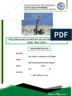 Informe N°02 Velocidad de AVANCE (Práctica)