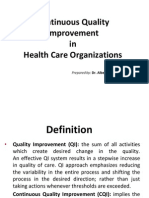 CQI in Healthcare Organizations