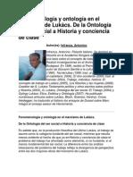 Fenomenología y ontología en el marxismo de Lukács