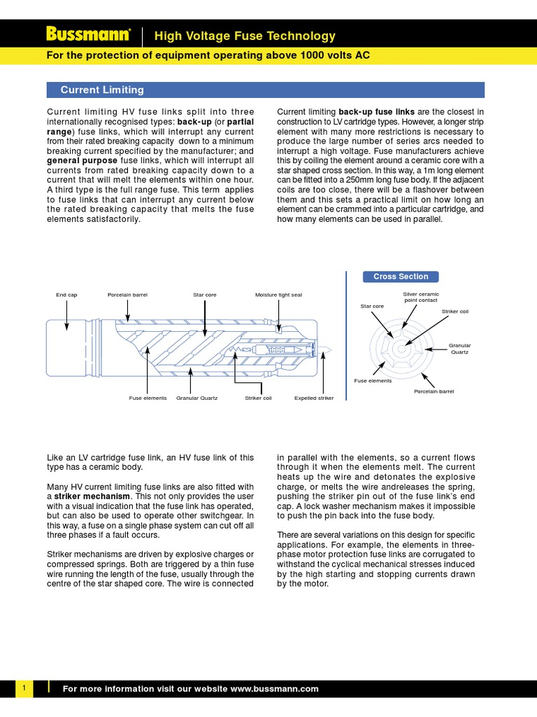 Hv Fuse Electrical High Voltage Wiring Diagram Switch Gear