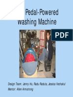 Peddle powered washing machine