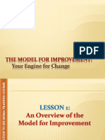 The Model Improvement, Your Egnine for Change Cession 6