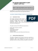 O&M -Sludge Dewatering Plant