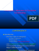 Accuracy & Contingency in Estimating