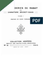 Les Broderies de Rabat - Christiane Brunot-David