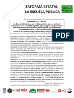 Comunicado Plataforma Estatal Resultado Final Consulta