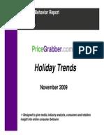 Holiday Trends Consumer Behavior Report 2009