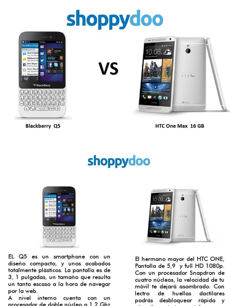 b1ecc3a9269 Comparador de precios Blackberry Q5 y HTC Max 16 Gb