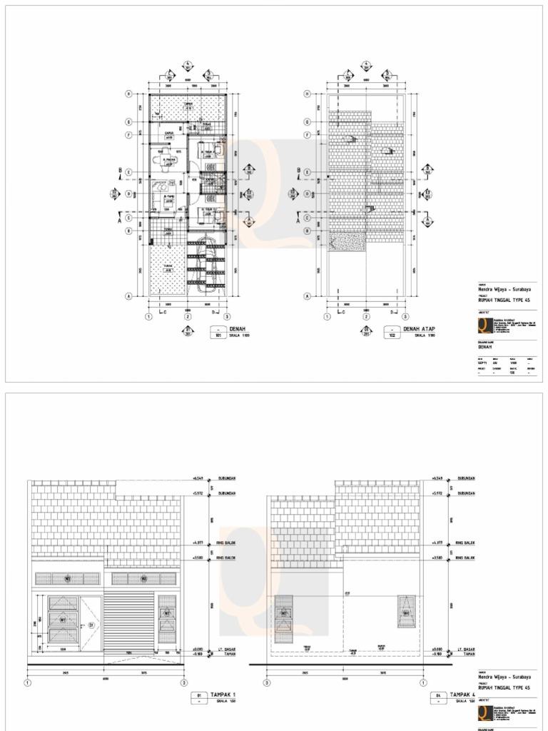 Desain Rumah Type 45