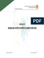 Steps in FE Modelling