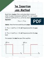 Insertion Loss Method