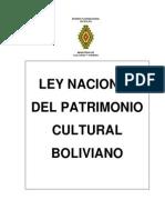 Ley de Patrimonio Cultural Boliviano