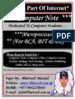 Microprocessor for Bca Bit Be