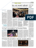 Festival del Giornalismo Culturale, seconda edizione - Il Corriere Adriatico del 14 novembre 2013