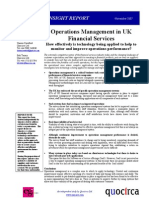 Operations management in UK financial services
