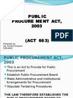 Public Procurement Act (PPA)